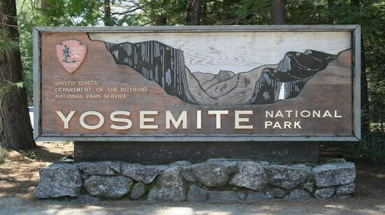 Yosemite National Park Trademark sign